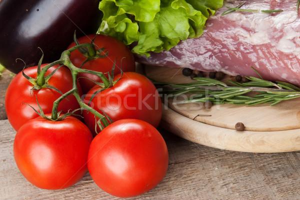Et sebze gıda kırmızı Stok fotoğraf © taden