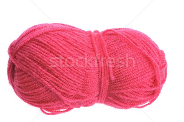woollen threads and spokes lie on  table knitting Stock photo © taden