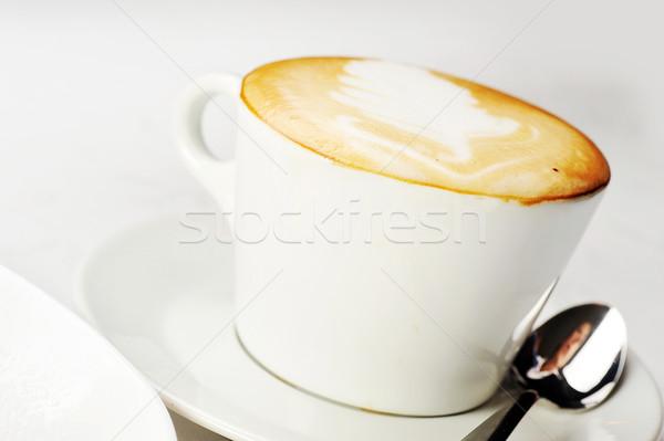 Csésze cappucchino fehér barna hab felső Stock fotó © taden