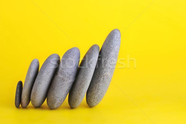 Grupy kamienie streszczenie charakter zielone Zdjęcia stock © taden