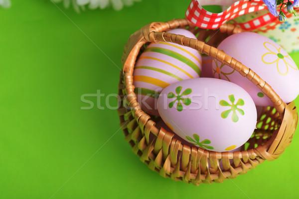 easter painted eggs easter eggs Stock photo © taden