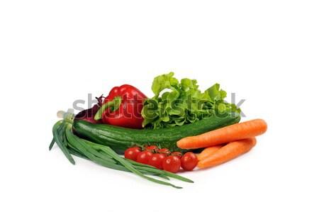 Taze sebze domates havuç salatalık soğan meyve Stok fotoğraf © taden