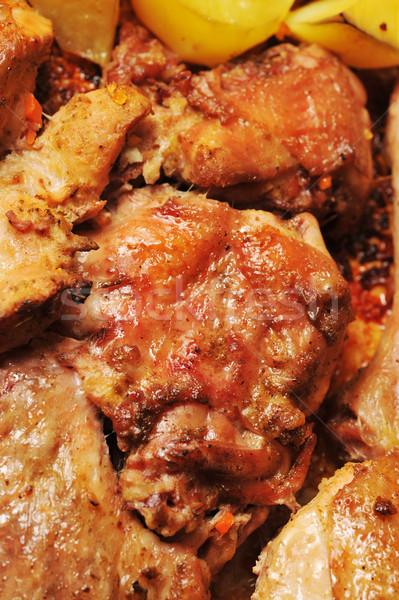 Gustoso pollo cena forcella Foto d'archivio © taden