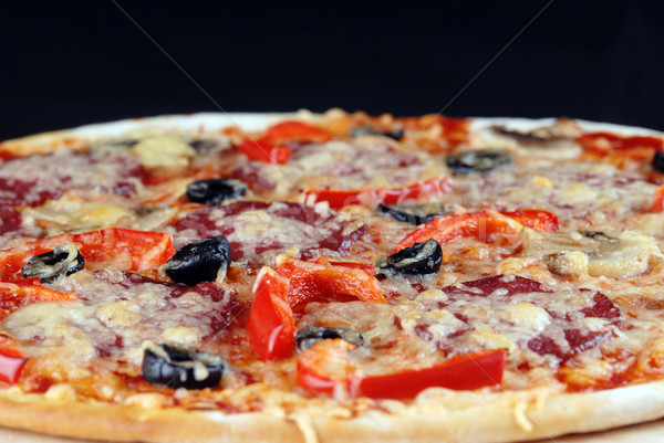 fresh baked pizza Stock photo © taden
