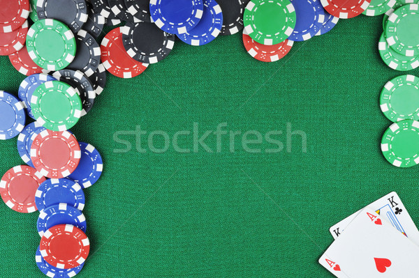 chips for gamblings and cards Stock photo © taden