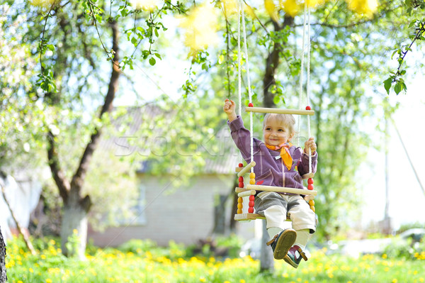 Meisje meisje park bloem kinderen gezicht Stockfoto © taden