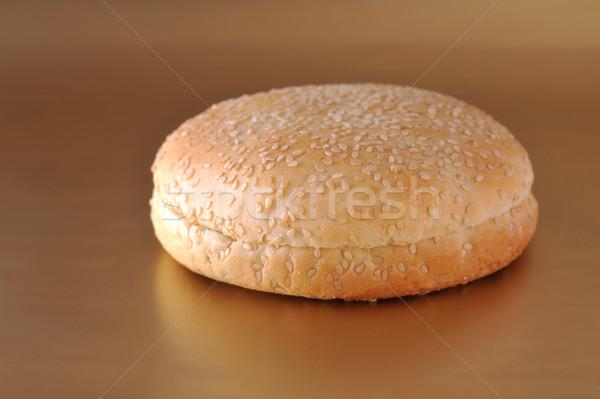 Ekmek rulo buğday un lies plaka Stok fotoğraf © taden