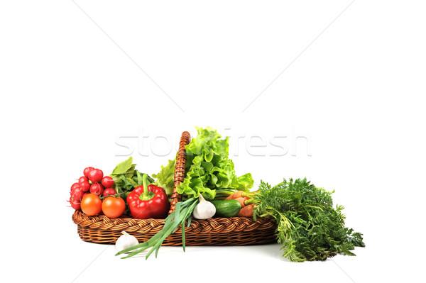 Verduras frescas cesta completo verde grupo rojo Foto stock © taden