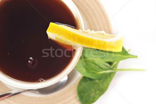 Tok fincan çay limon ev tablo Stok fotoğraf © taden