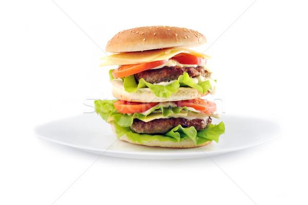 hamburger with cutlet Stock photo © taden