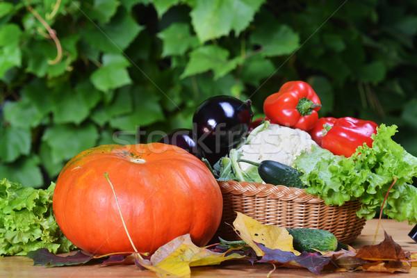 Verse groenten groenten mand voedsel Stockfoto © taden