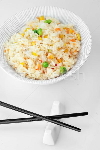 çanak pirinç sebze Çin Stok fotoğraf © taden