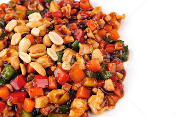 Foto stock: Al · vapor · hortalizas · carne · maní · chino · cocina