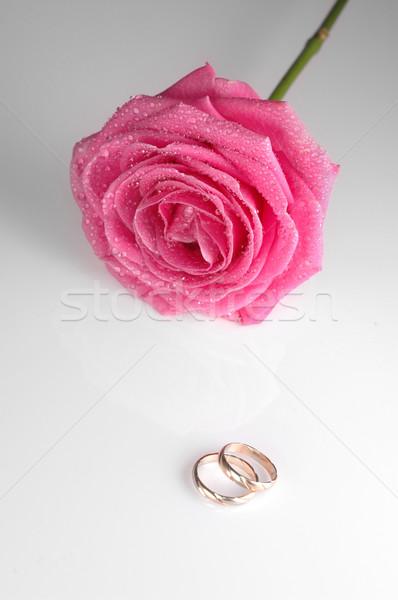 Halkalar düğün kalp evlilik Stok fotoğraf © taden