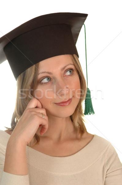 young girl with bachelor cap Stock photo © taden