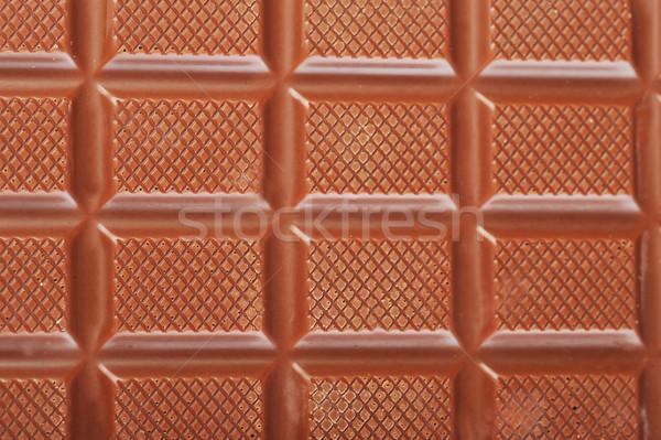 Csokoládé szelet barna közelkép bár tej desszert Stock fotó © taden
