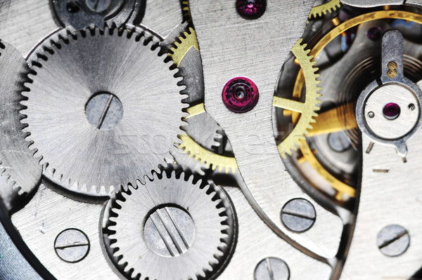 old watch gears close up Stock photo © taden