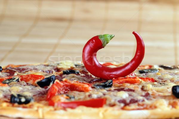 pizza with  chili pepper Stock photo © taden