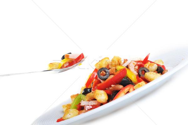 Insalata piatto Spice mexican carne forcella Foto d'archivio © taden