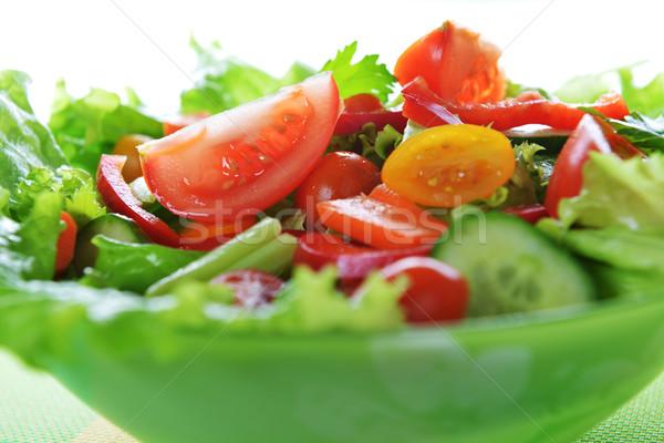 Ensalada vegetales lechuga otro verduras frescas blanco Foto stock © taden