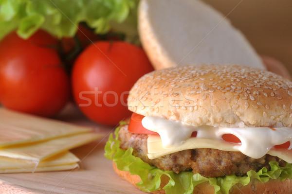 сэндвич овощей продовольствие кухне таблице сыра Сток-фото © taden