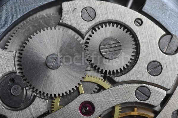 Alten ansehen Zahnräder Zeit Maschine Stock foto © taden