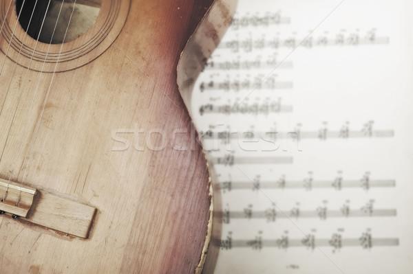 ноты музыку Vintage шаблон Сток-фото © taden