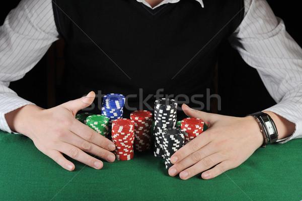 карт играть игрок игорный чипов игры Сток-фото © taden