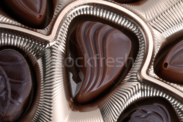 chocolates in foil box Stock photo © taden