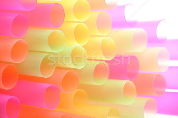 Stock photo:  color straws