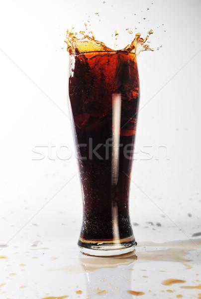 Hideg ital üveg víz étel jég étterem Stock fotó © taden