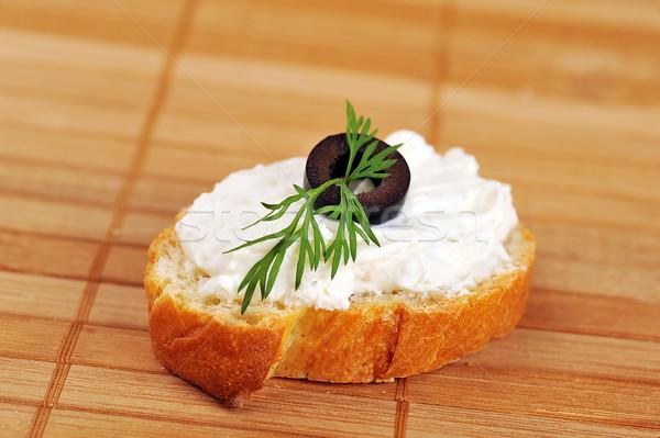 サンドイッチ 焼いた パン 緑 チーズ ストックフォト © taden