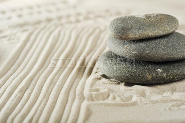 Сток-фото: камней · морем · песок · серый · аннотация
