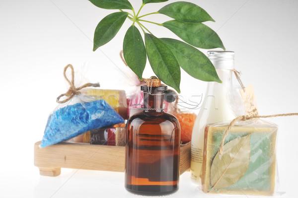 Zout olie massage melk lichaam Stockfoto © taden