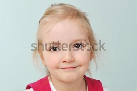Ragazza disegno bella bambina carta faccia Foto d'archivio © taden