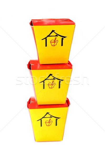 быстрого питания три китайский обеда цвета еды Сток-фото © taden
