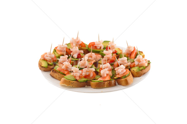 Sandwiches garnir laitue plaque casse-croûte vert Photo stock © taden