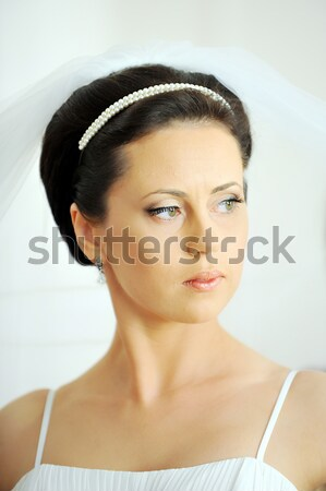 portrait of beautiful  bride Stock photo © taden