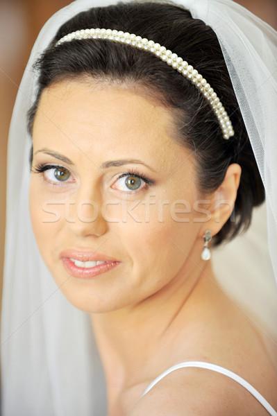 ストックフォト: 美しい · 花嫁 · スタジオ · 肖像 · スタイリッシュ · 結婚式