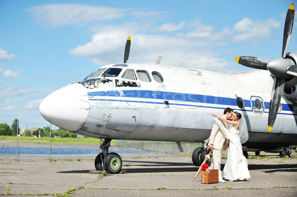 невеста жених лет свадьба путешествия цветок Сток-фото © taden