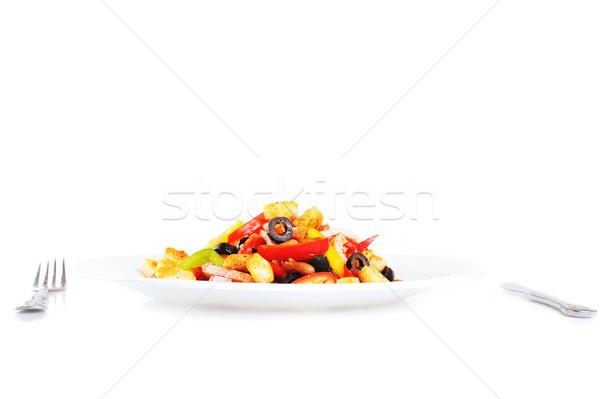 Ensalada placa especias mexicano carne rojo Foto stock © taden