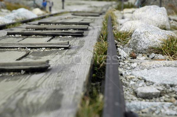 Rail carretera montanas luz coches Foto stock © taden