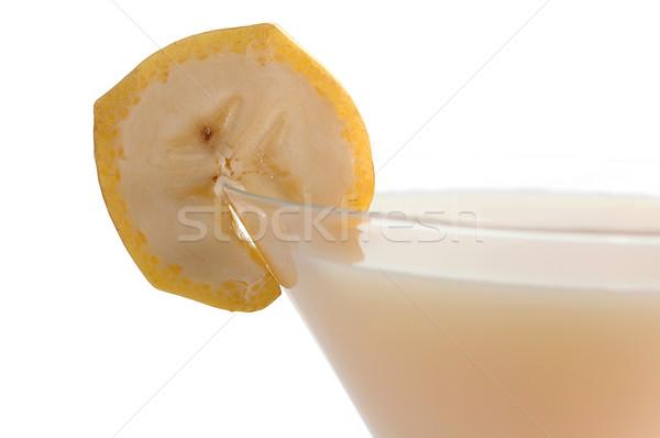 Kokteyl muz yalıtılmış beyaz meyve yaz Stok fotoğraf © taden