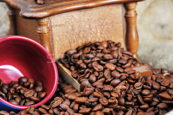 coffee grinder and cup Stock photo © taden
