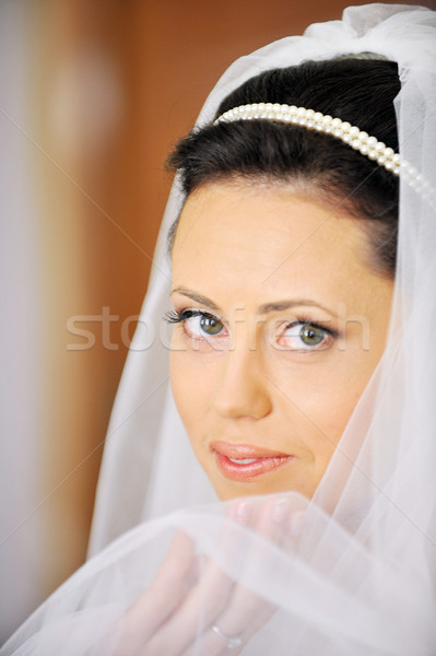 Stok fotoğraf: Güzel · gelin · stüdyo · portre · şık · düğün