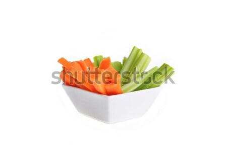 Puchar marchew seler żywności biały naczyń Zdjęcia stock © taden