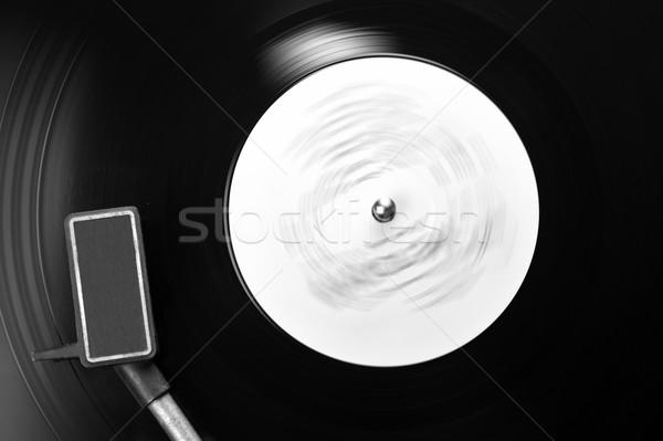 Stockfoto: Vinyl · schijf · record · draaitafel · ontwerp