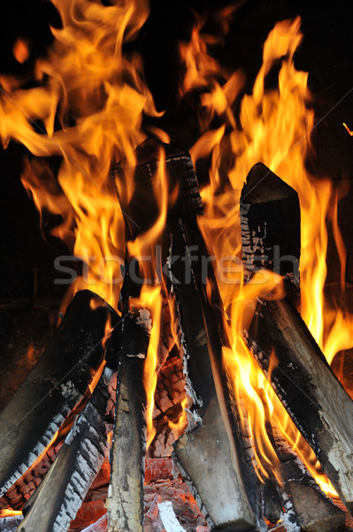 Stock photo: Bright flame
