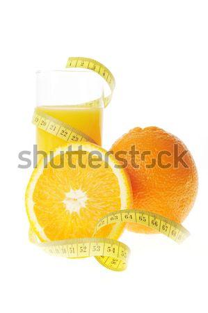 glass with fresh orange juice Stock photo © taden
