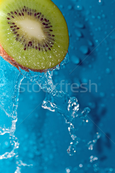 Víz kiwi vízcseppek szelet természet gyümölcs Stock fotó © taden
